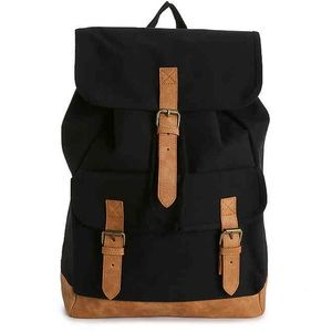 Black Canvas Backpack - Brand New
